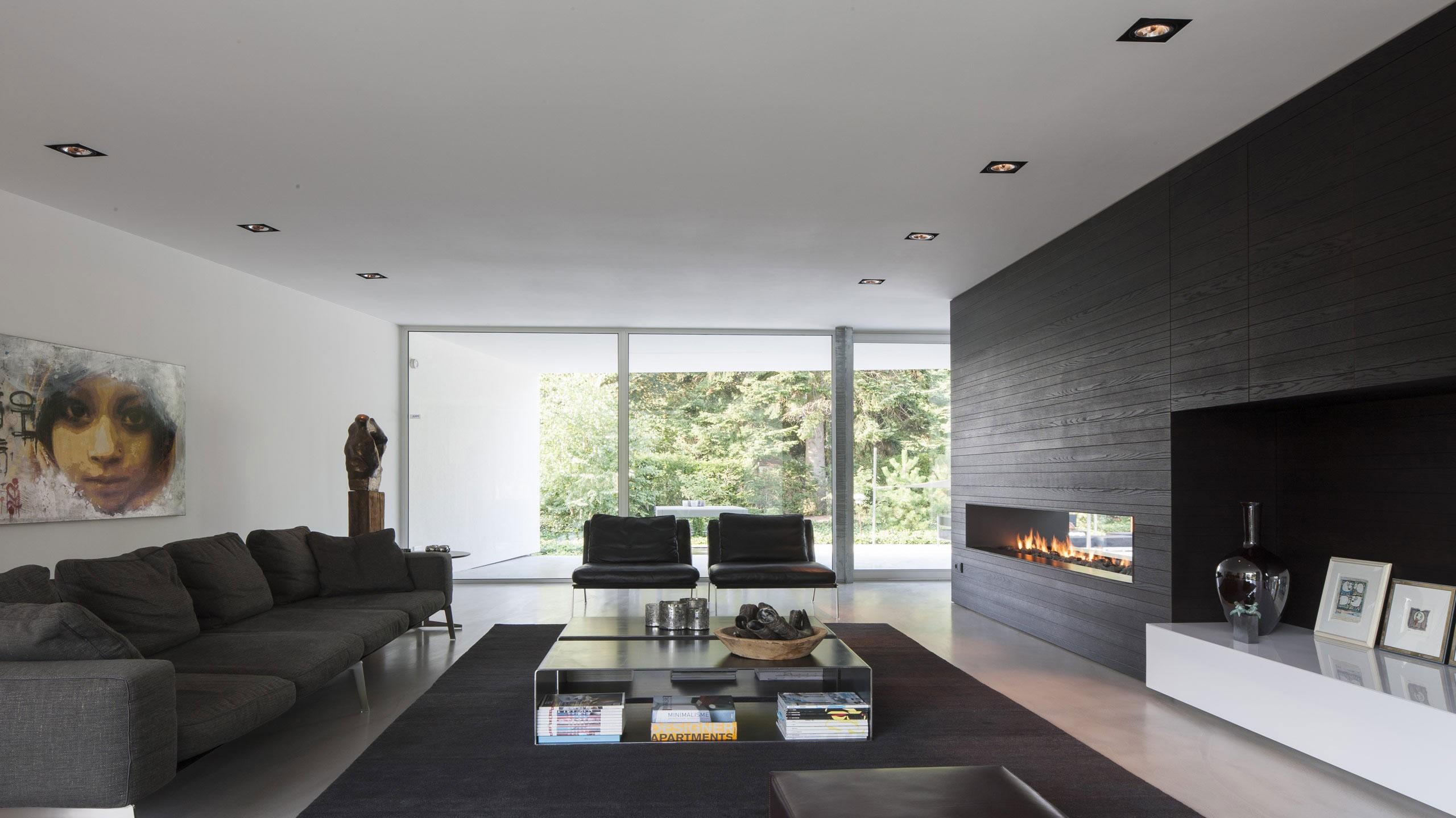 Boxed Villa Spee Haelen with Panoramic Windows by Lab32 architecten-15