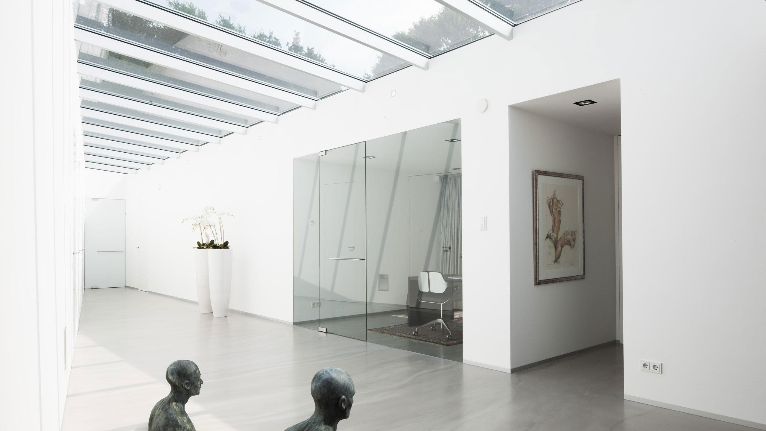 Boxed Villa Spee Haelen with Panoramic Windows by Lab32 architecten-29
