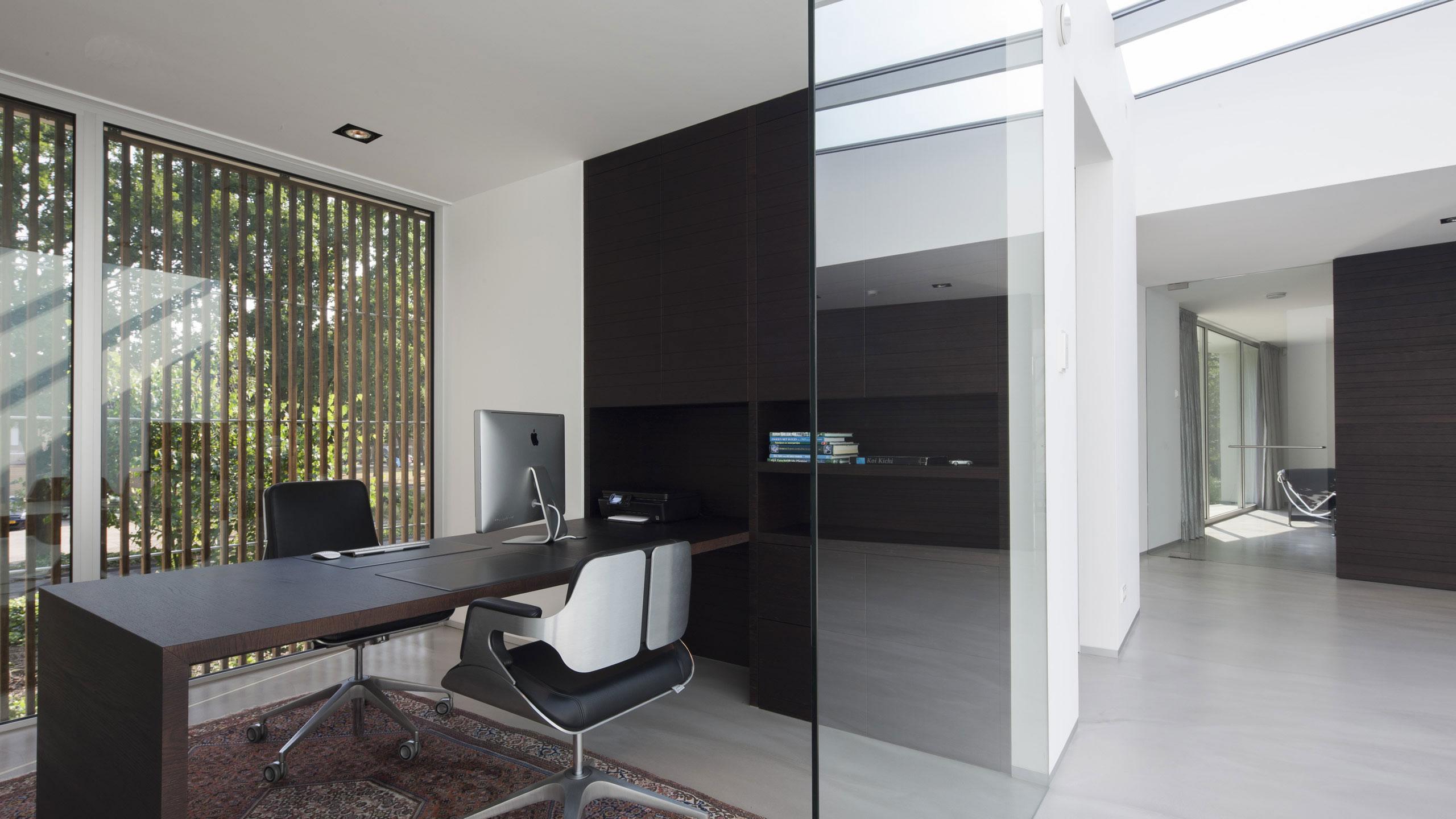 Boxed Villa Spee Haelen with Panoramic Windows by Lab32 architecten-30