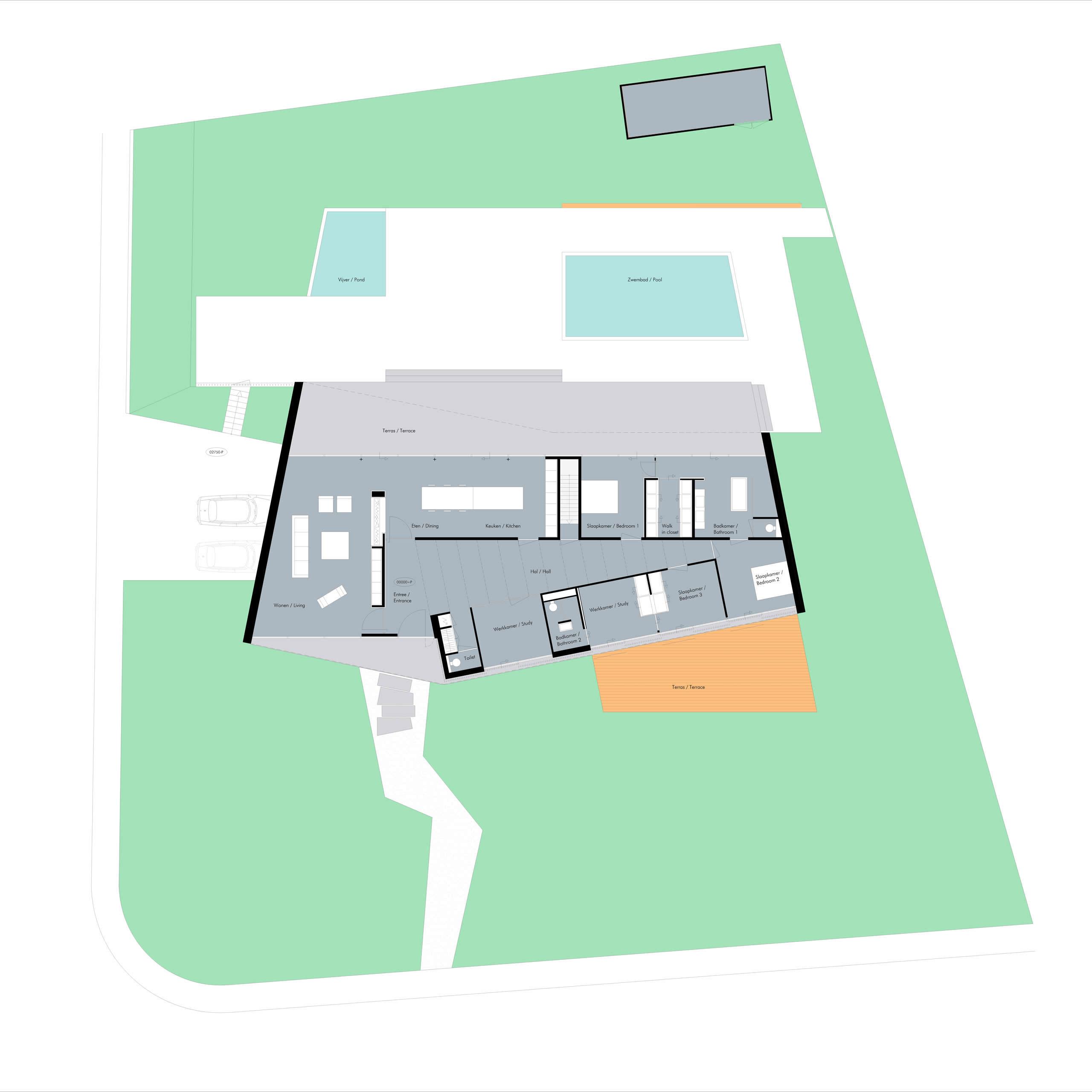 Boxed Villa Spee Haelen with Panoramic Windows by Lab32 architecten-32