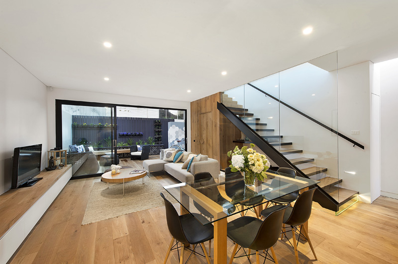 Bright and Airy Two Story Contemporary Victorian-era Home in Melbourne by design by t-05