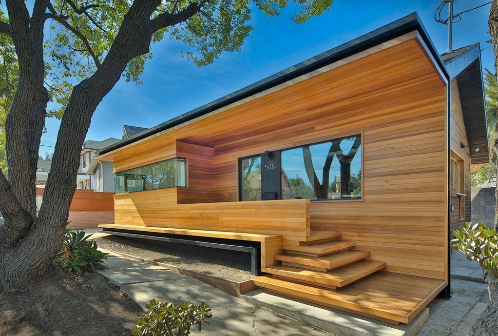 Bungalow remodelled into Wooden Fenlon House by Martin Fenlon Architecture-01