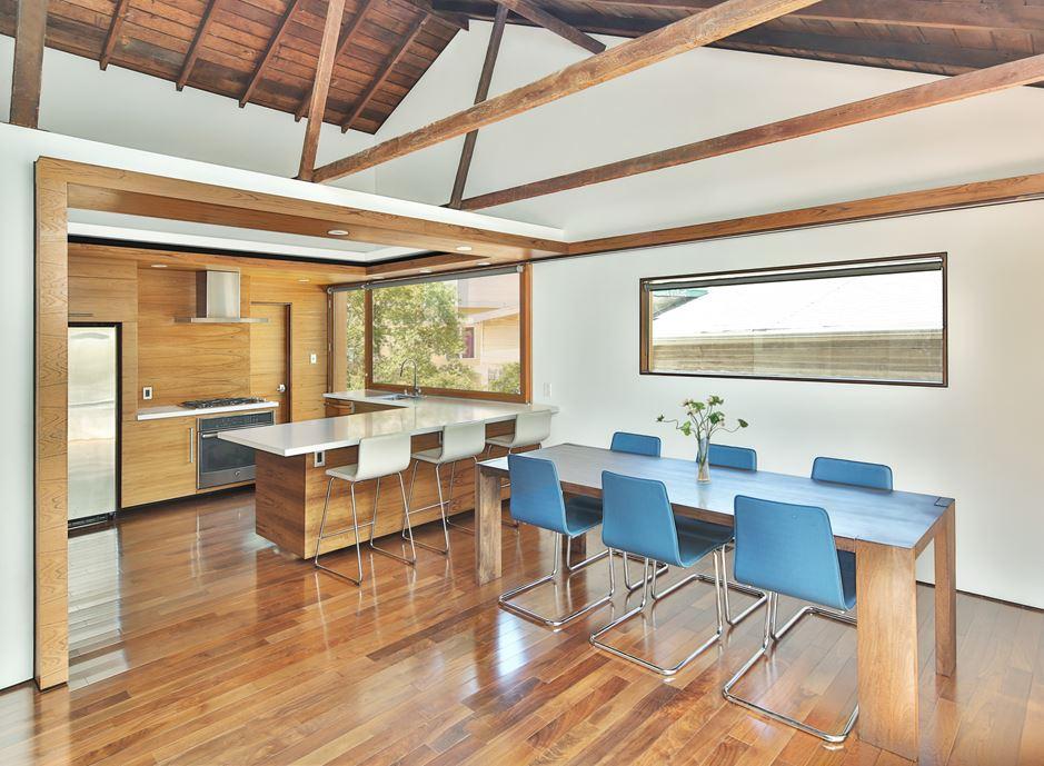 Bungalow remodelled into Wooden Fenlon House by Martin Fenlon Architecture-03