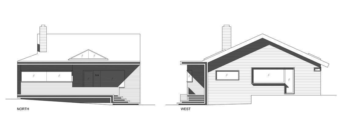 Bungalow remodelled into Wooden Fenlon House by Martin Fenlon Architecture-10