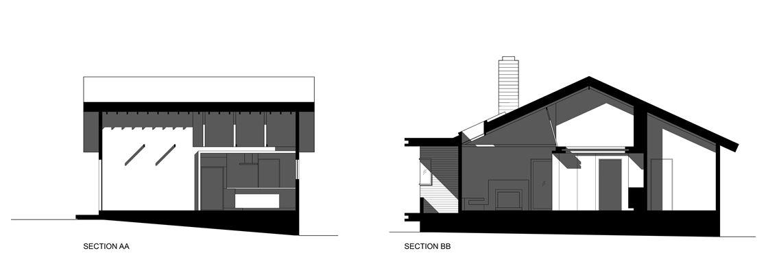 Bungalow remodelled into Wooden Fenlon House by Martin Fenlon Architecture-12