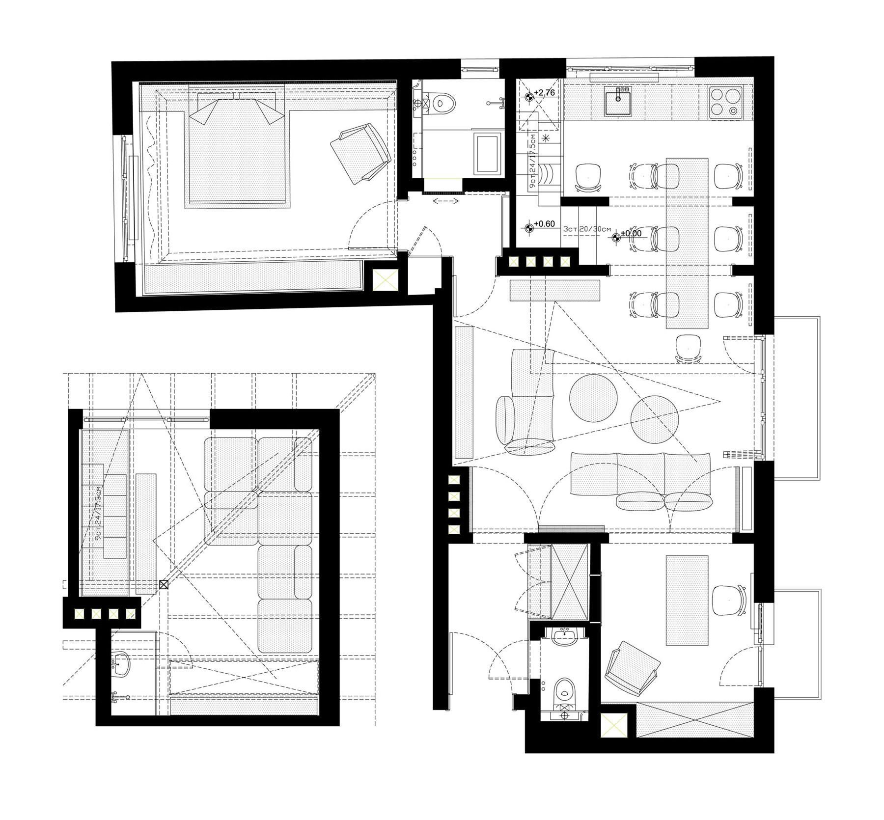 Chic Apartment H01 in Sofia by DontDIY Studio-17