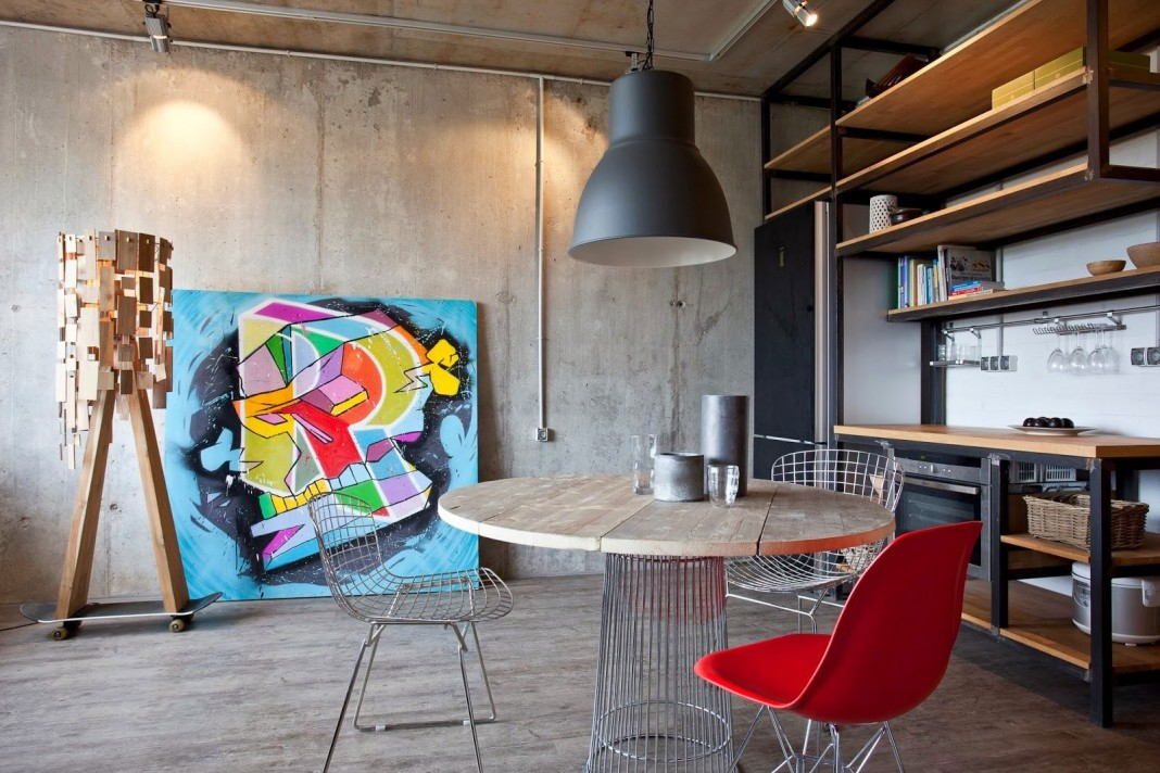 Concrete Wall Apartment in Krasnogorsk by Studio Odnushechka