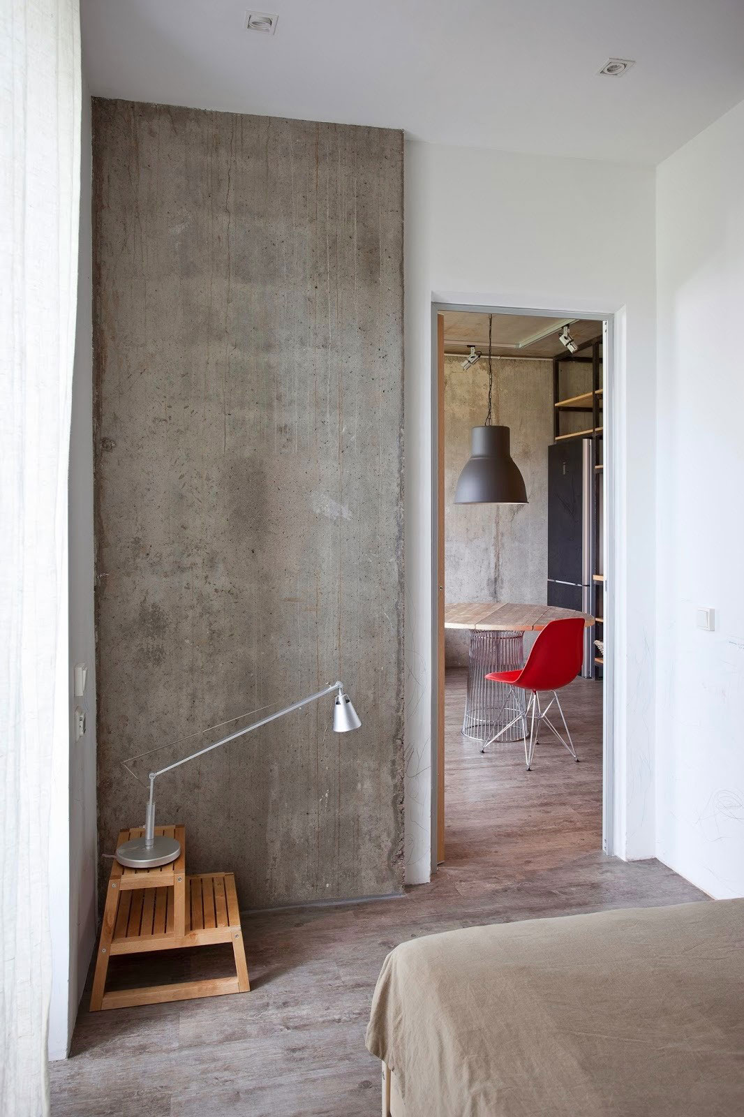 Concrete Wall Apartment in Krasnogorsk by Studio Odnushechka-14