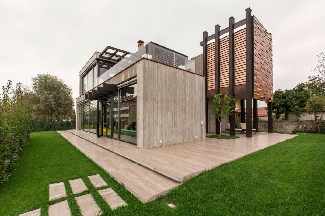 D autore residence near bologna by giraldi associati for Prospetti ville moderne