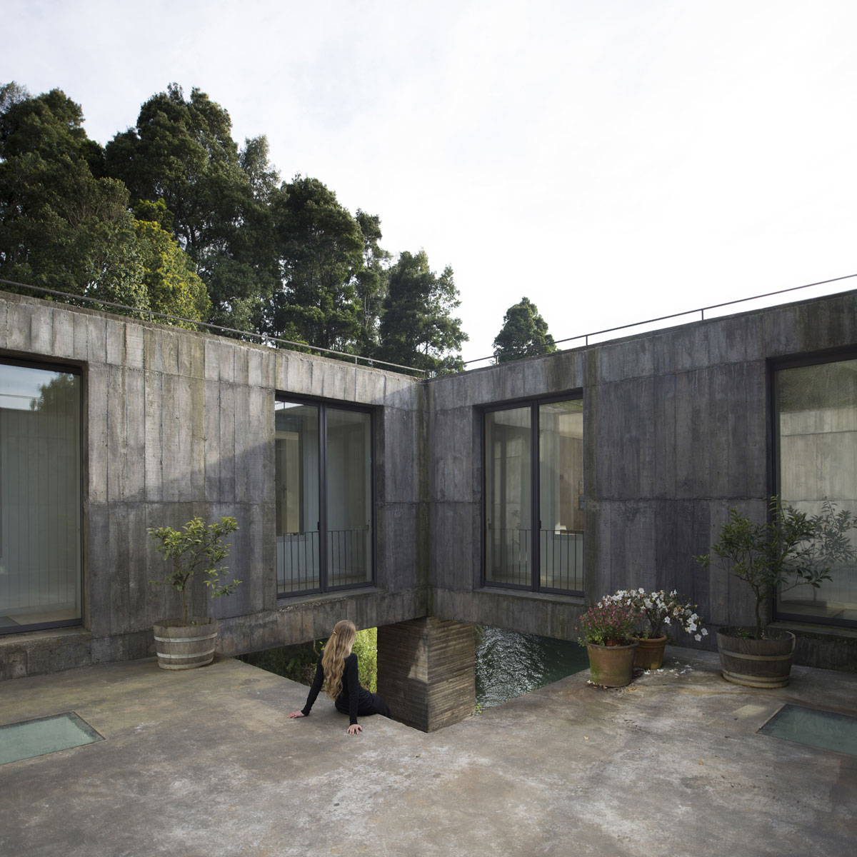 ... Guna House Located Between A Steeply Sloping Hillside And A Wood Of  Eucalyptus Trees By Pezo ...