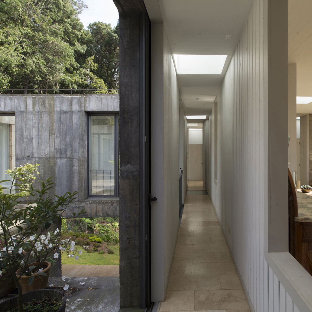 Guna House Located Between a Steeply Sloping Hillside and a Wood of Eucalyptus Trees by Pezo von Ellrichshausen-07