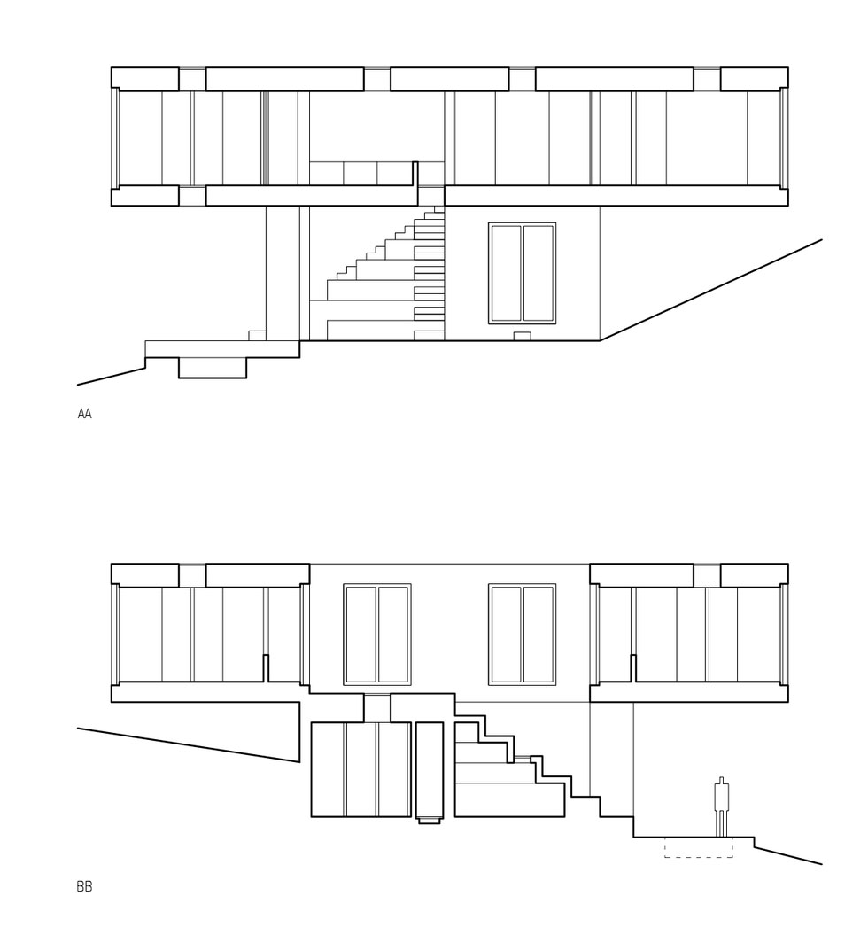 Guna House Located Between a Steeply Sloping Hillside and a Wood of Eucalyptus Trees by Pezo von Ellrichshausen-14