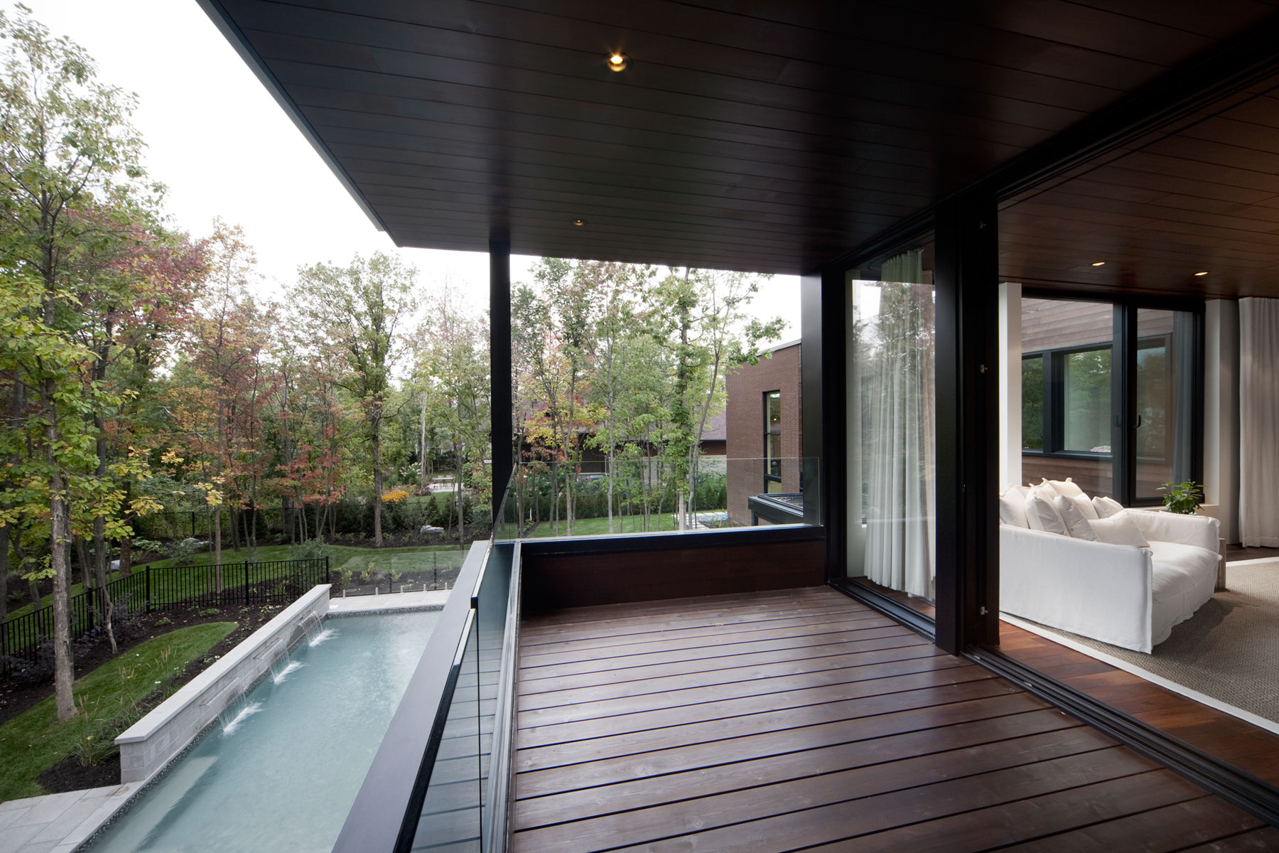 Intimate and Discreet Veranda House Located in a Forest Development designed by Blouin Tardif Architecture-Environnement-02