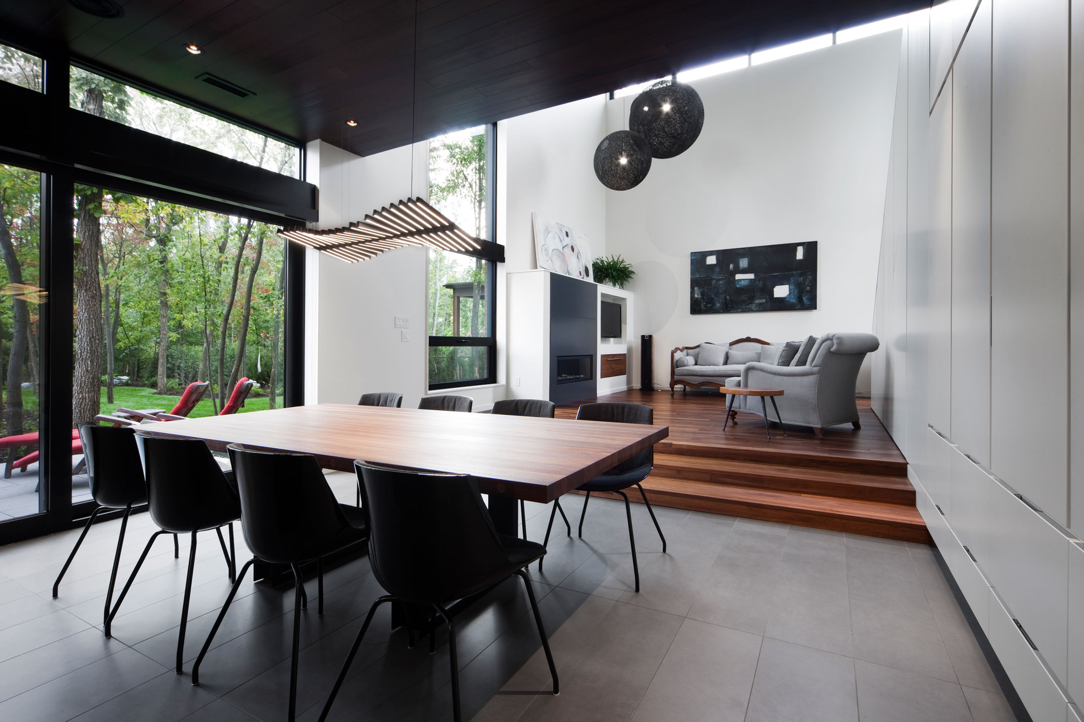 Intimate and Discreet Veranda House Located in a Forest Development designed by Blouin Tardif Architecture-Environnement-03