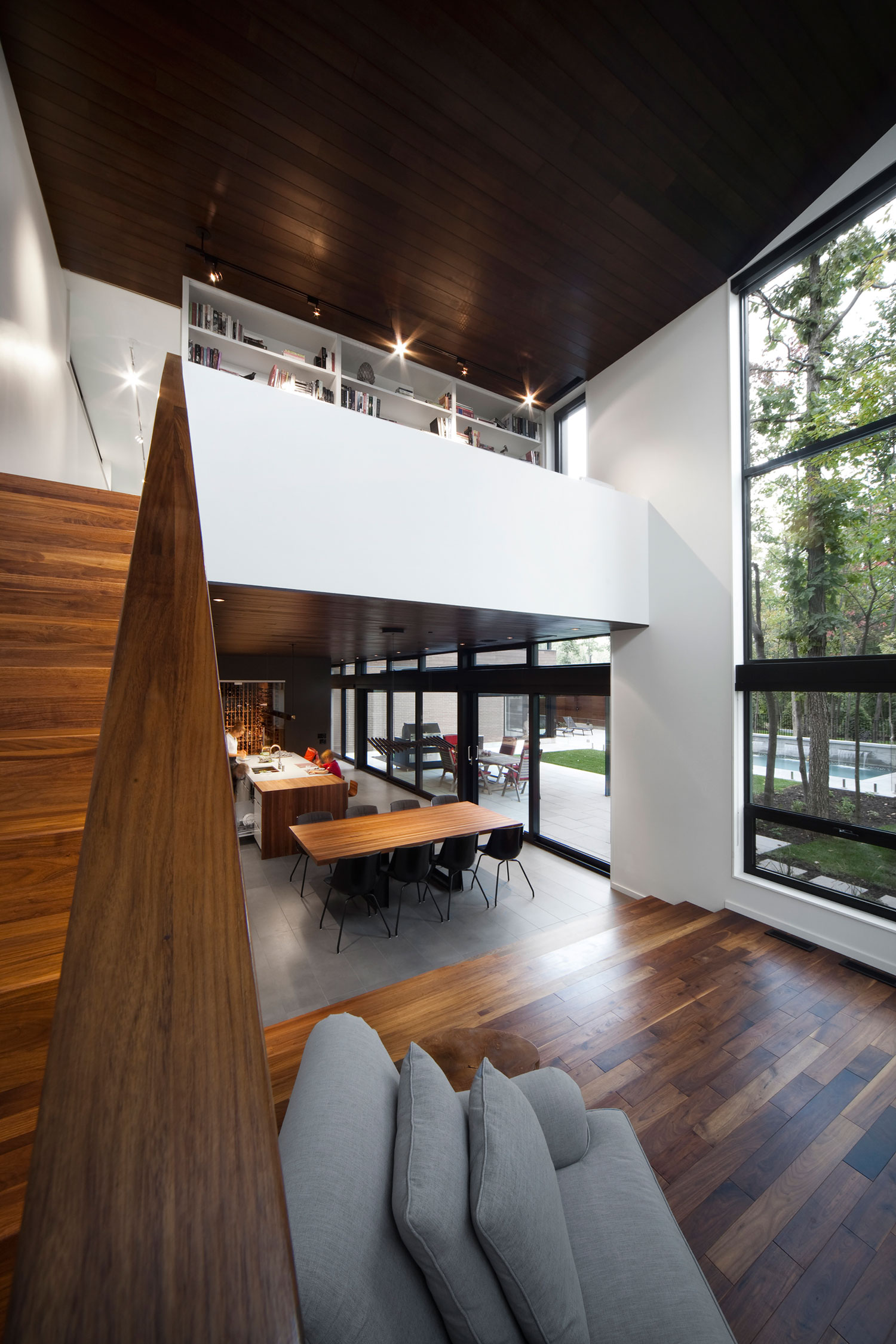 Intimate and Discreet Veranda House Located in a Forest Development designed by Blouin Tardif Architecture-Environnement-06