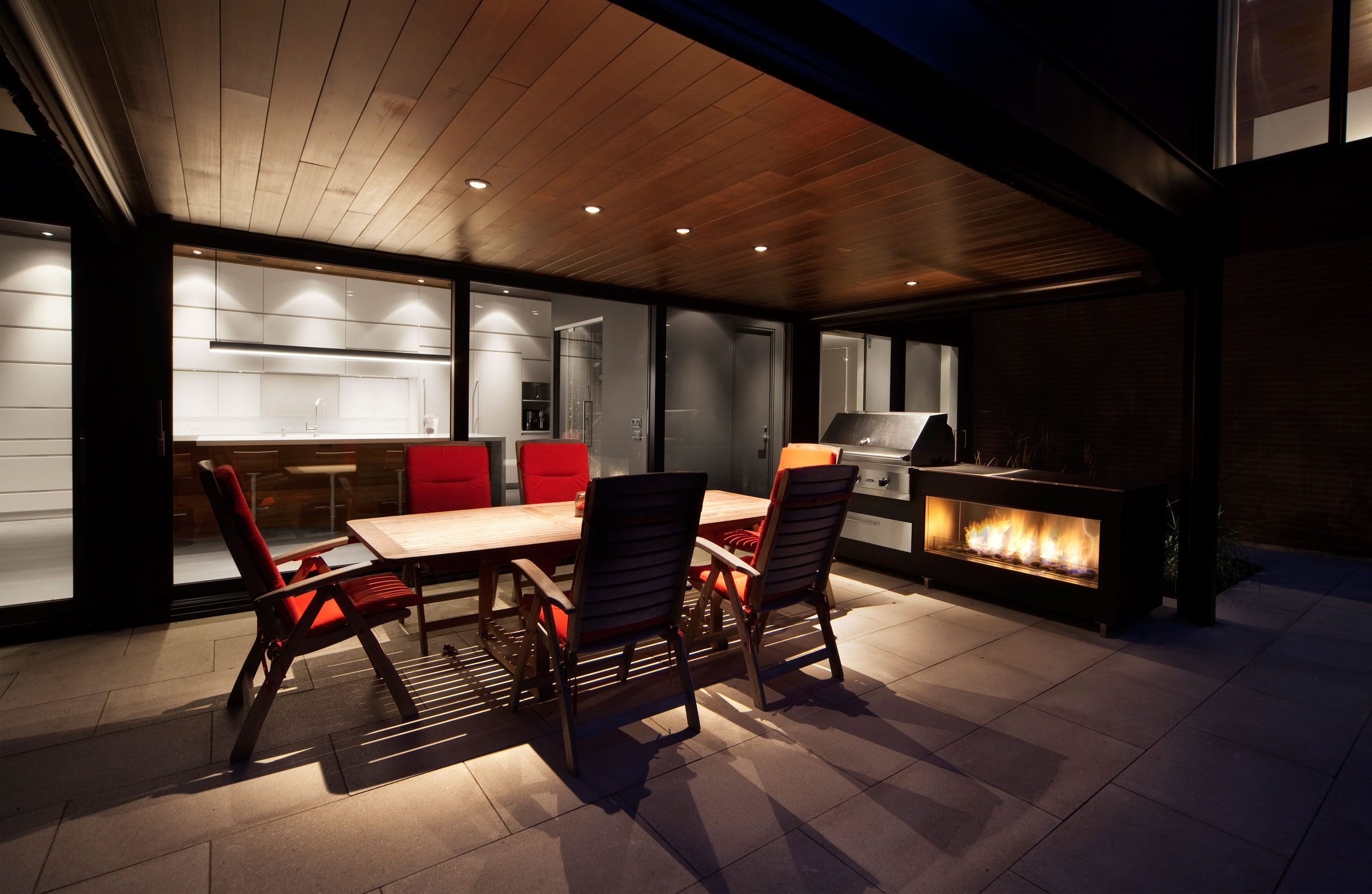 Intimate and Discreet Veranda House Located in a Forest Development designed by Blouin Tardif Architecture-Environnement-09