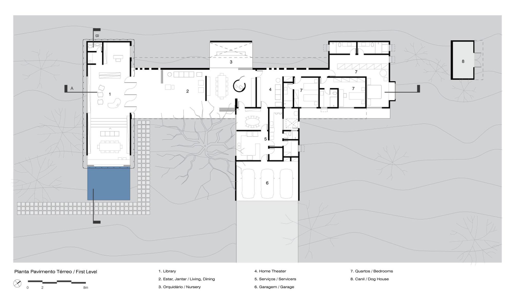 L shape BLM House by ATRIA Arquitetos-28