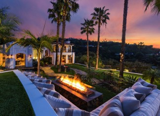 Mediterranean Style 10048 Cielo Drive Residence in Beverly Hills