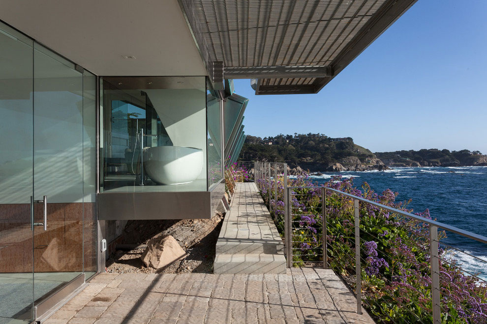Modern Configuration of Carmel Highlands Residence With Awesome Sea Views by Eric Miller Architects-09