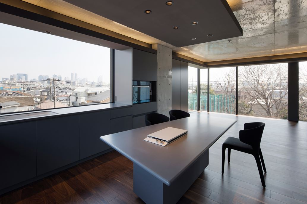OKM 4 story building designed for a private residence and apartment in Tokyo by Artechnic-02