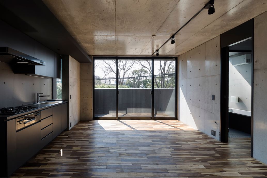 OKM 4 story building designed for a private residence and apartment in Tokyo by Artechnic-04