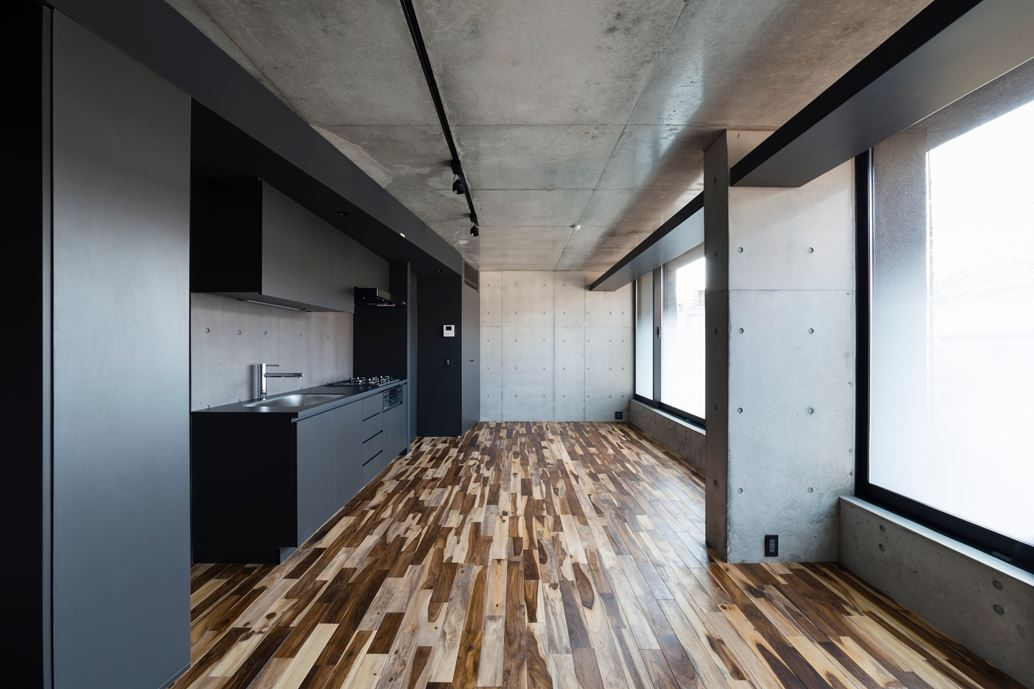 OKM 4 story building designed for a private residence and apartment in Tokyo by Artechnic-05