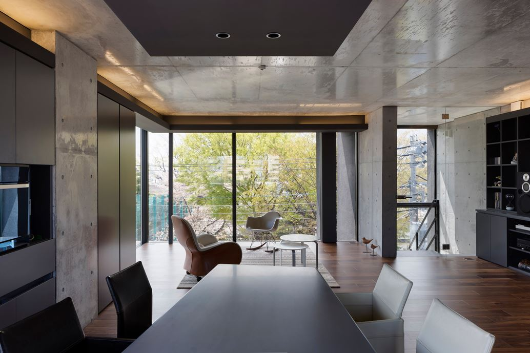OKM 4 story building designed for a private residence and apartment in Tokyo by Artechnic-07