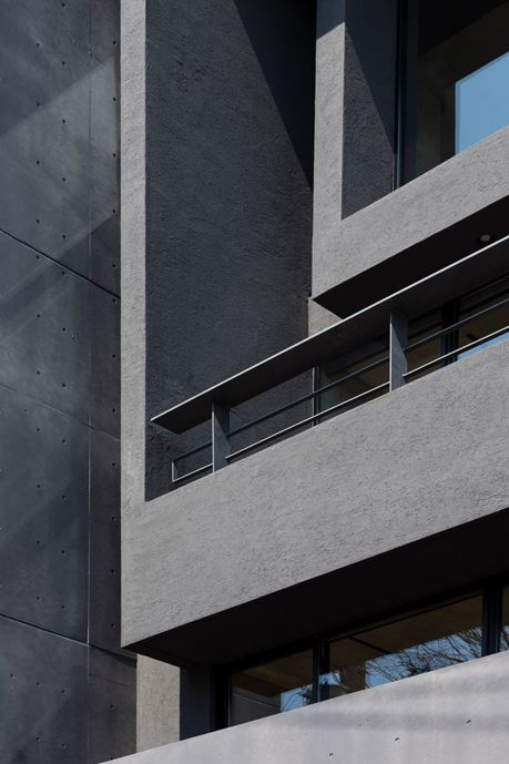 OKM 4 story building designed for a private residence and apartment in Tokyo by Artechnic-15