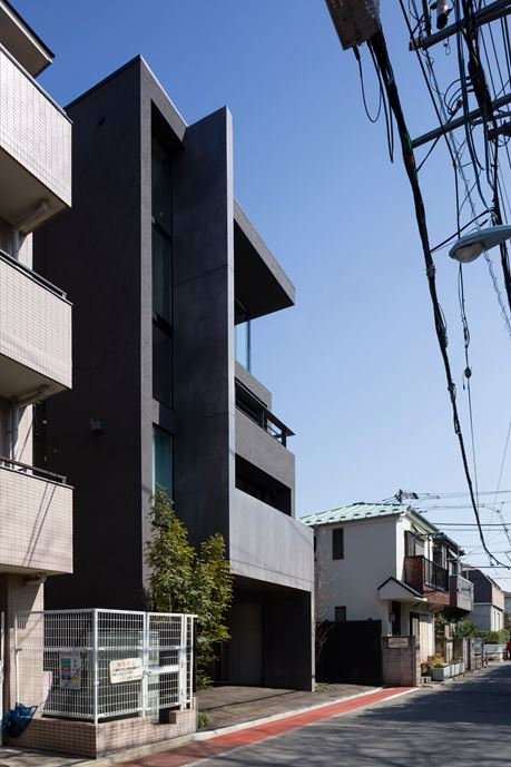 OKM 4 story building designed for a private residence and apartment in Tokyo by Artechnic-20