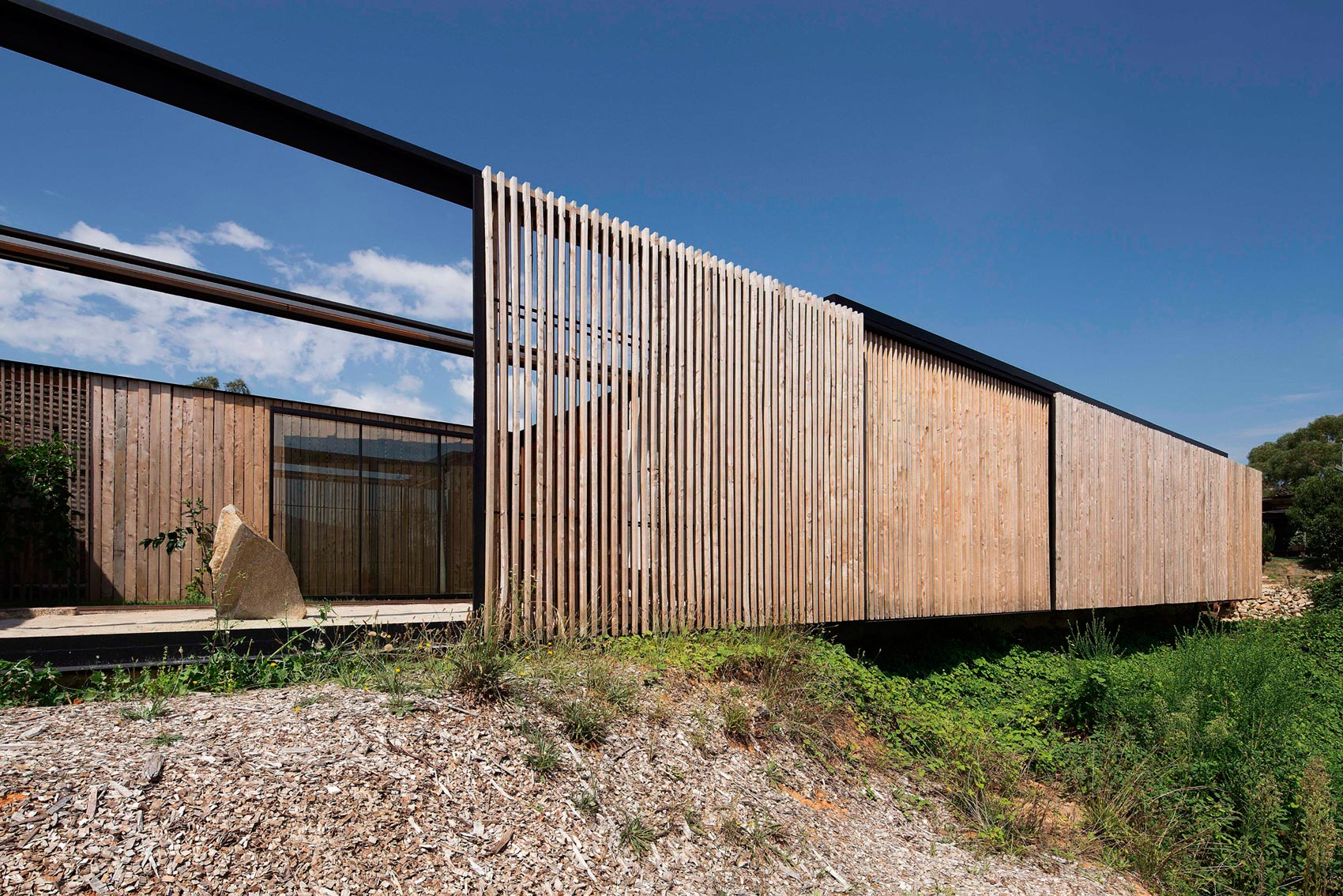 Sawmill House built of Reclaimed Concrete Blocks Used by ARCHIER-09