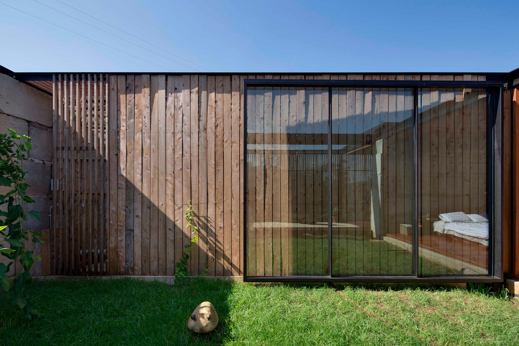Sawmill House built of Reclaimed Concrete Blocks Used by ARCHIER-11