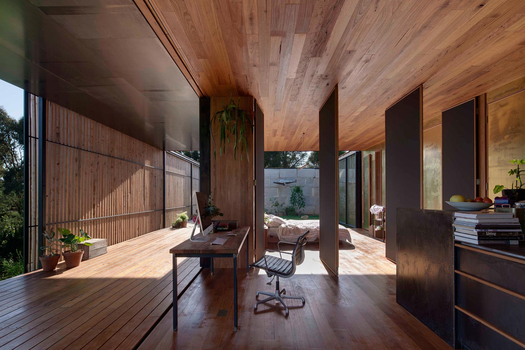 Sawmill House built of Reclaimed Concrete Blocks Used by ARCHIER-23