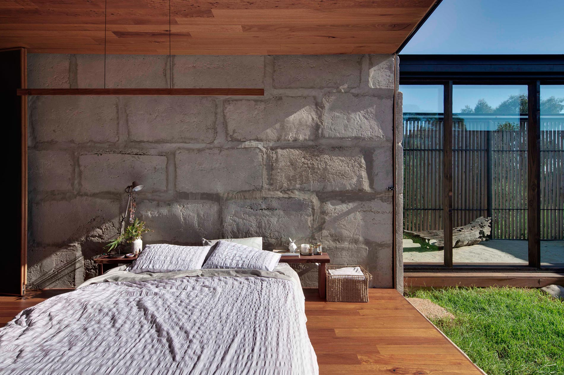Sawmill House built of Reclaimed Concrete Blocks Used by ARCHIER-28
