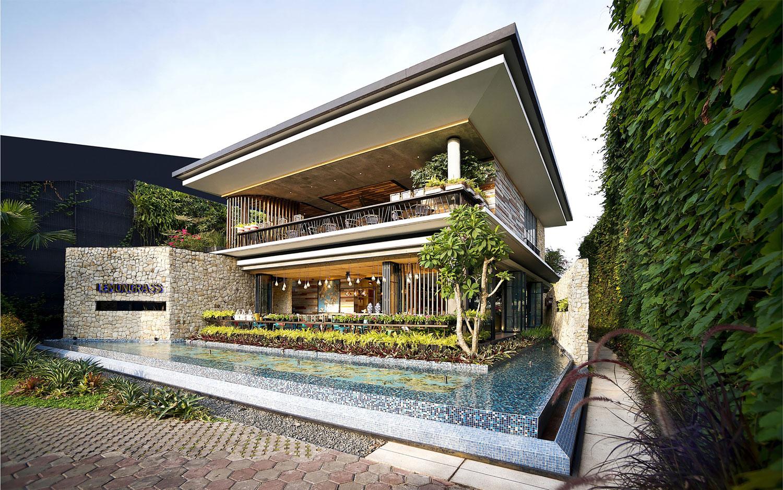 Stylish Tropical Paradise Theme of Lemongrass Restaurant Designed by Einstein & Associates-02