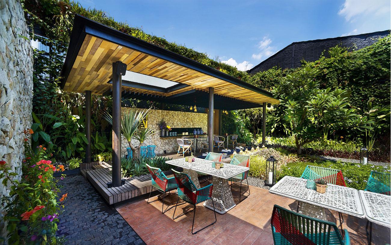 Stylish Tropical Paradise Theme of Lemongrass Restaurant Designed by Einstein & Associates-07