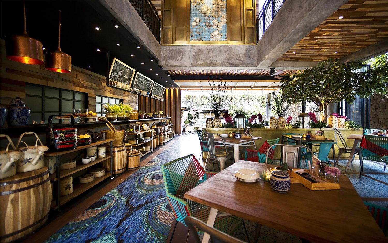 Stylish Tropical Paradise Theme of Lemongrass Restaurant Designed by Einstein & Associates-12