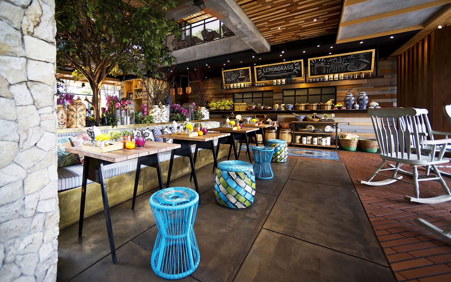 Stylish Tropical Paradise Theme of Lemongrass Restaurant Designed by Einstein & Associates-14
