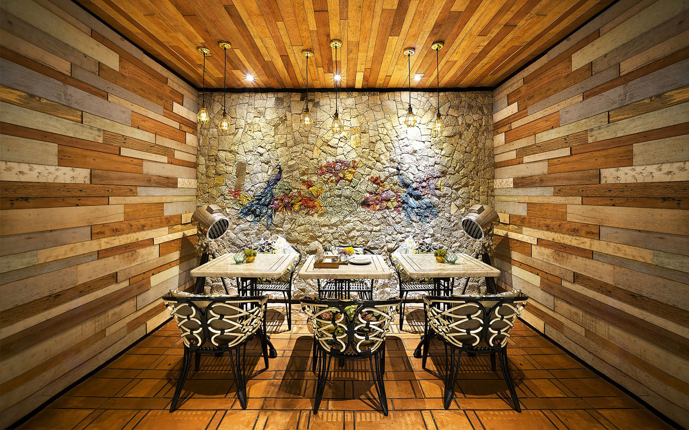 Stylish Tropical Paradise Theme of Lemongrass Restaurant Designed by Einstein & Associates-17