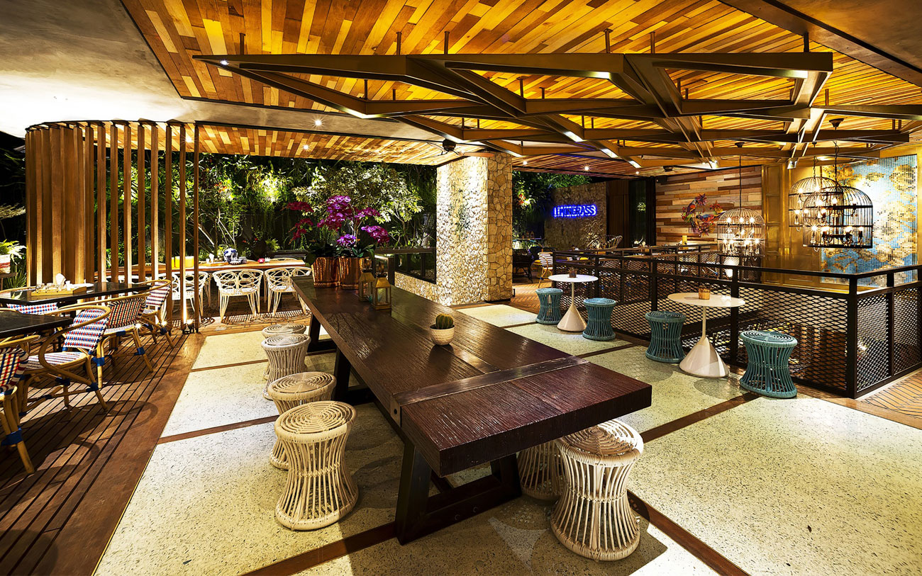Stylish Tropical Paradise Theme of Lemongrass Restaurant Designed by Einstein & Associates-18