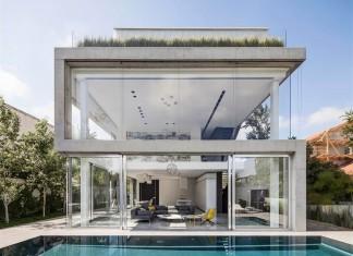 The Concrete Cut House in Ramat Gan by Pitsou Kedem Architects