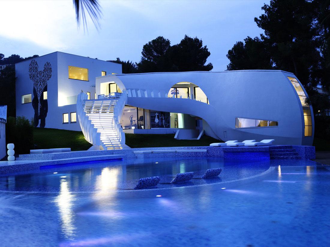 Ultramodern Casa Son Vida by tecArchitecture and Marcel Wanders Studio-01