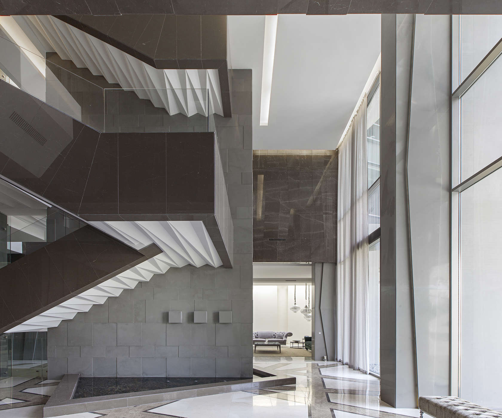 Ultramodern grey tone Al Saif Residence in Kuwait City by ROMA International For Construction and Decoration-08