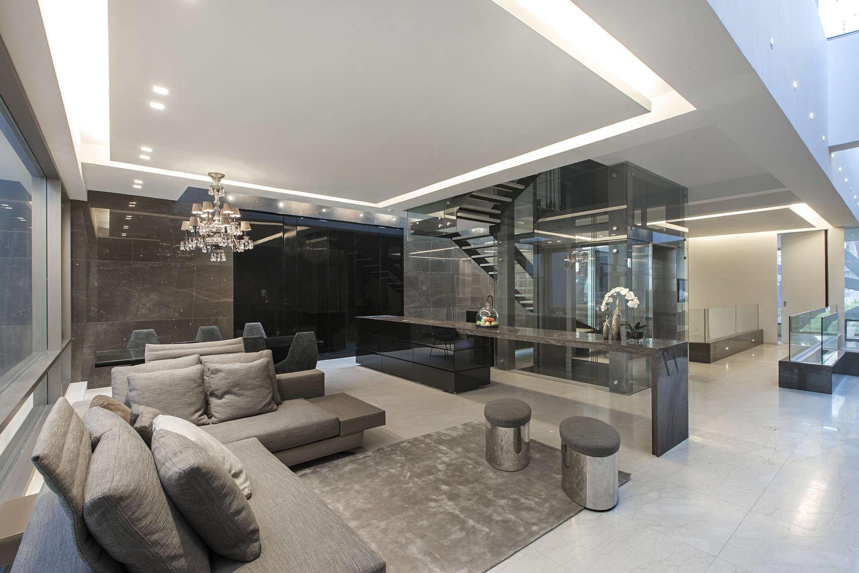 Ultramodern grey tone Al Saif Residence in Kuwait City by ROMA International For Construction and Decoration-09