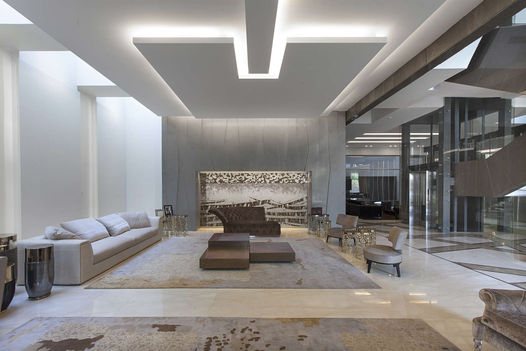 Ultramodern grey tone Al Saif Residence in Kuwait City by ROMA International For Construction and Decoration-10