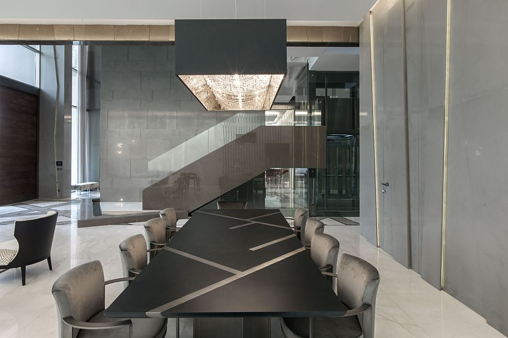 Ultramodern grey tone Al Saif Residence in Kuwait City by ROMA International For Construction and Decoration-11