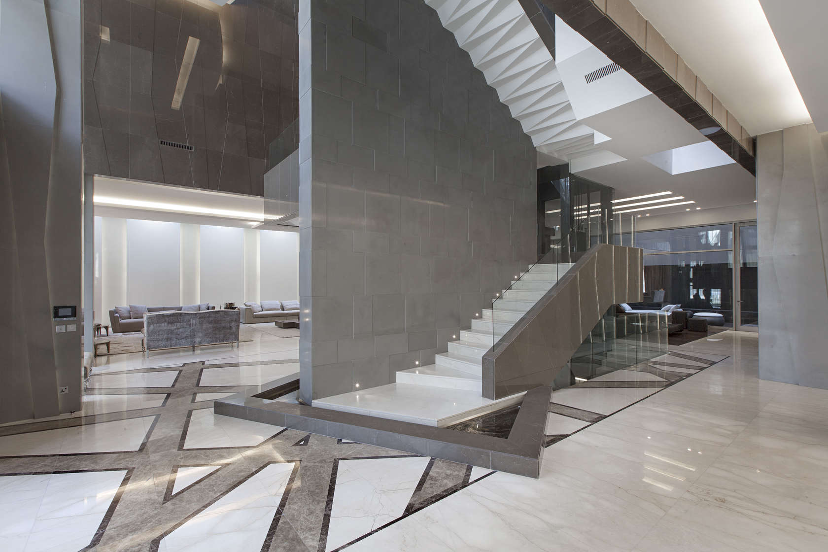 Ultramodern grey tone Al Saif Residence in Kuwait City by ROMA International For Construction and Decoration-14