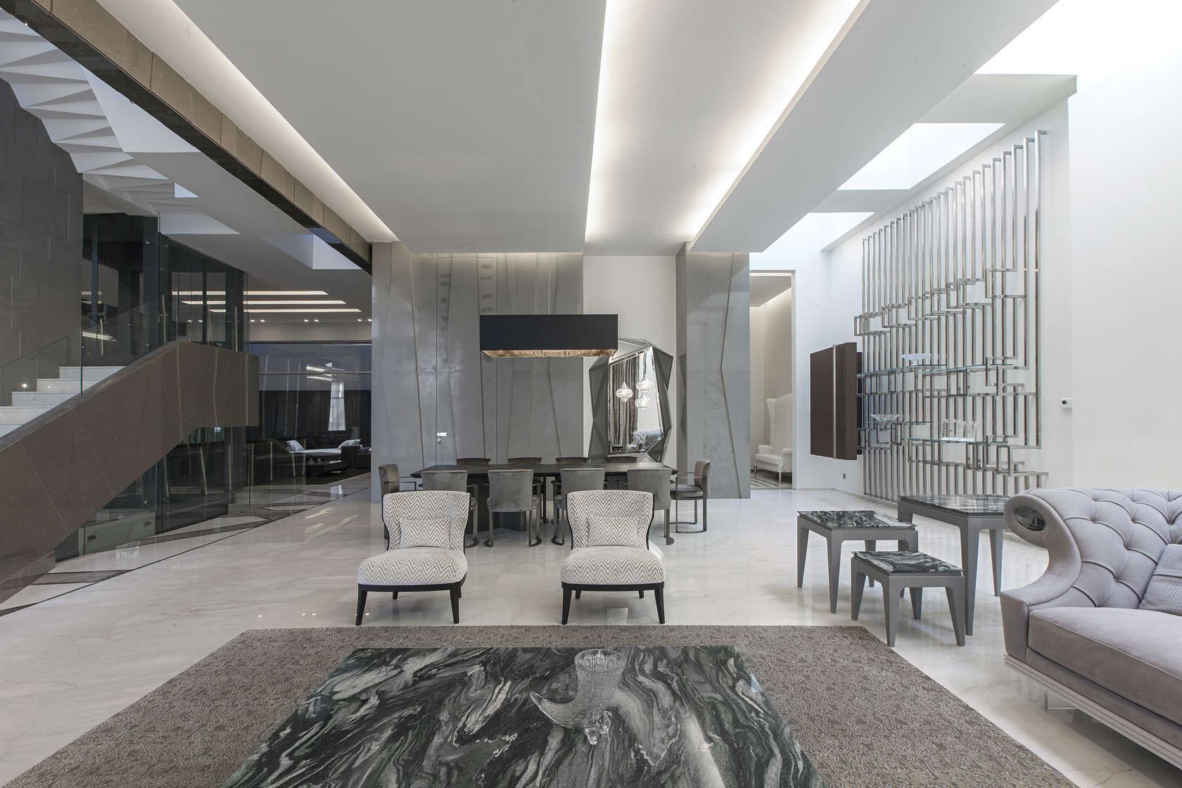 Ultramodern grey tone Al Saif Residence in Kuwait City by ROMA International For Construction and Decoration-15