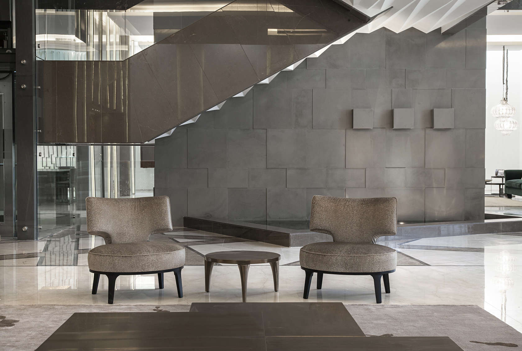 Ultramodern grey tone Al Saif Residence in Kuwait City by ROMA International For Construction and Decoration-16
