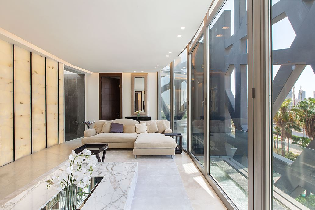 Ultramodern grey tone Al Saif Residence in Kuwait City by ROMA International For Construction and Decoration-19