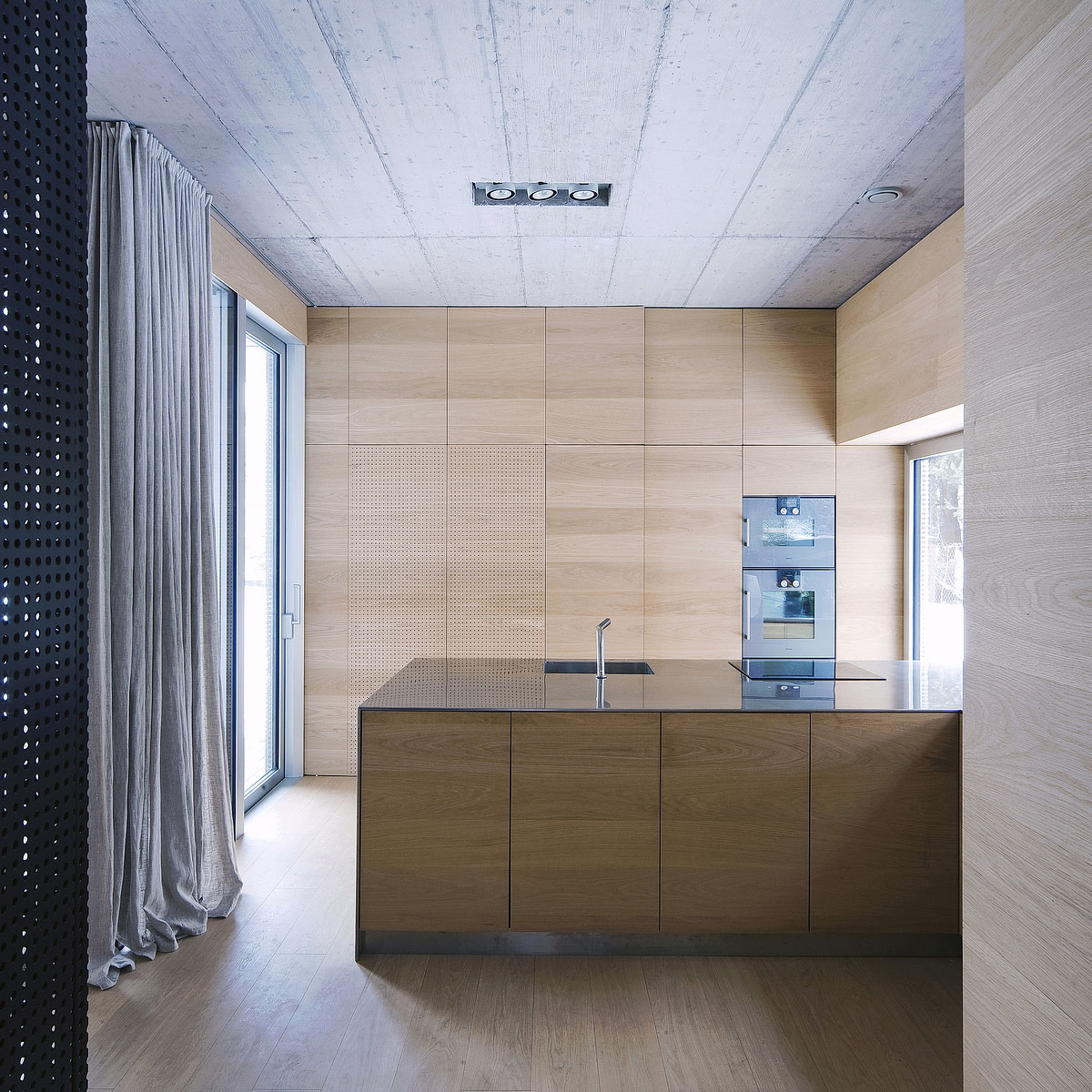 Villa Criss-Cross Envelope Located in Ljubljana by OFIS Architects-10